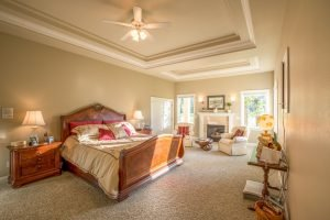 Master Suite with Vaulted Cielings & Fireplace